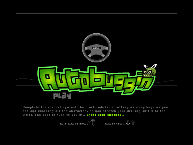 Autobuggin start screen