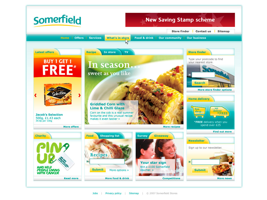 Somerfield homepage 2007