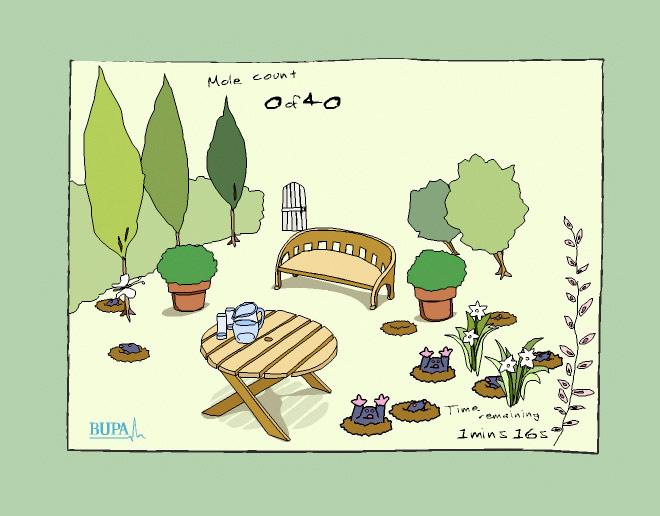 Spot The Mole garden scene