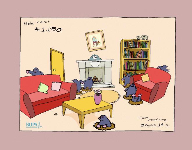 Spot The Mole lounge scene