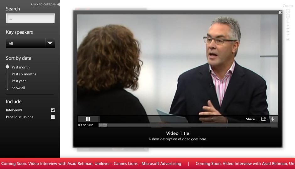 Watch videos streamed from MSN Video