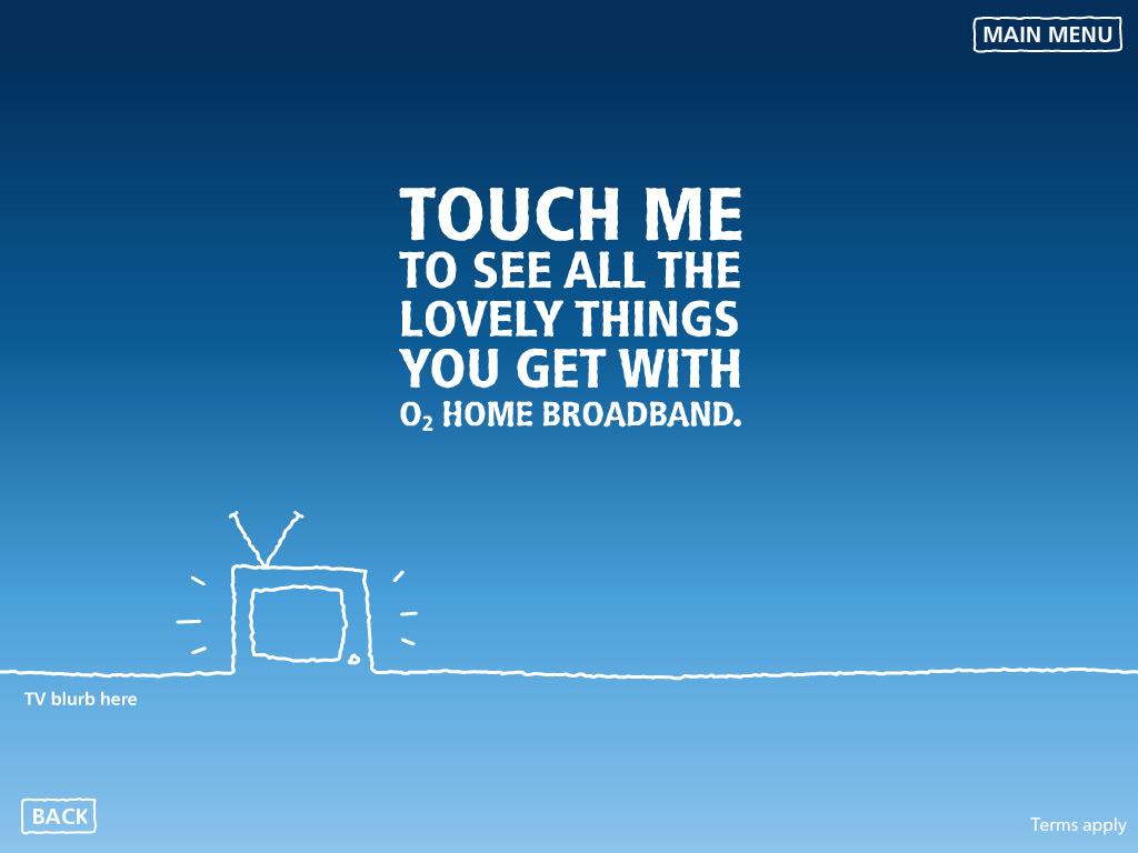 O2 Home Broadband Start screen