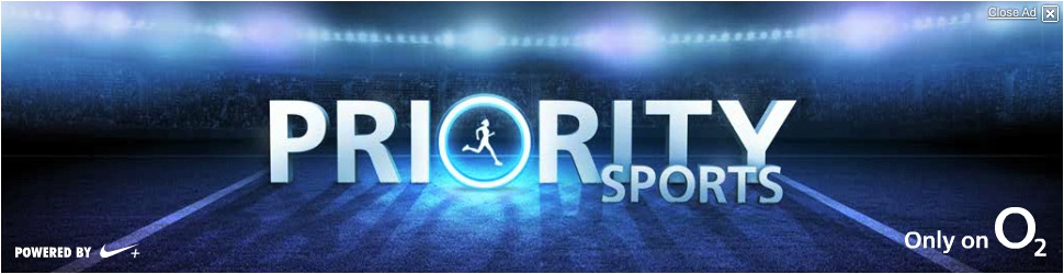 O2 Priority Sports… big logo, so you know what this is about!