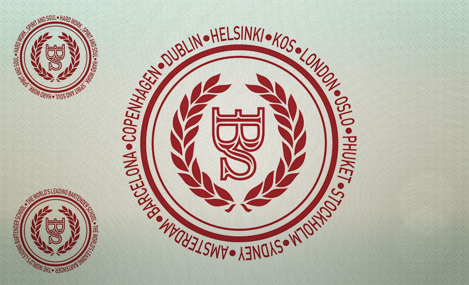 The EBS stamp, surrounded by cities with branches. On the left with brand building messages.