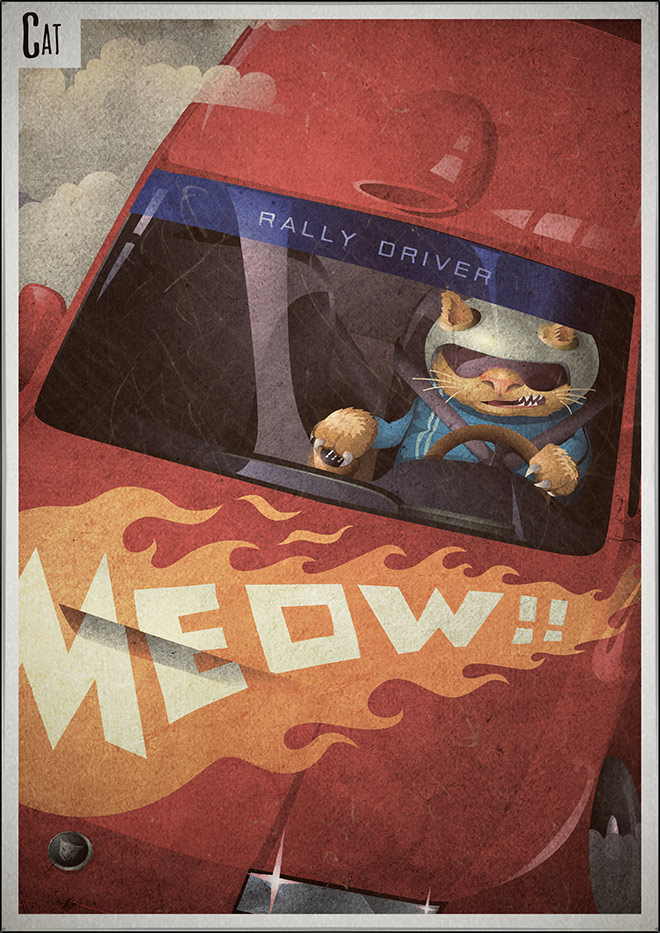 Cat Rally Driver poster